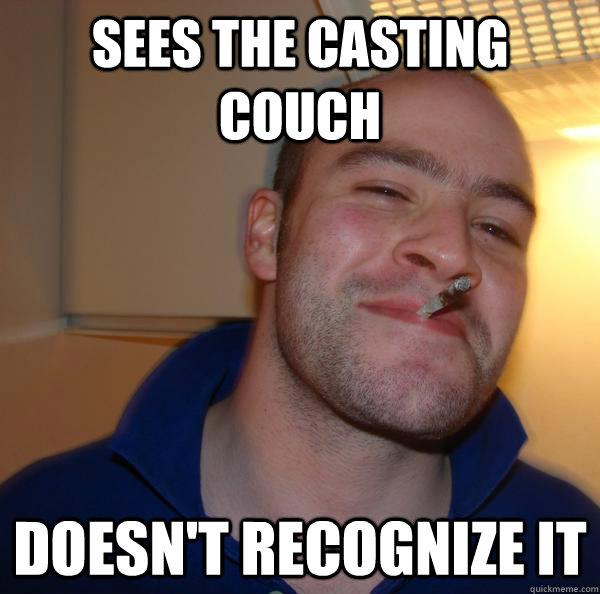 Sees the casting couch doesn't recognize it - Sees the casting couch doesn't recognize it  Misc