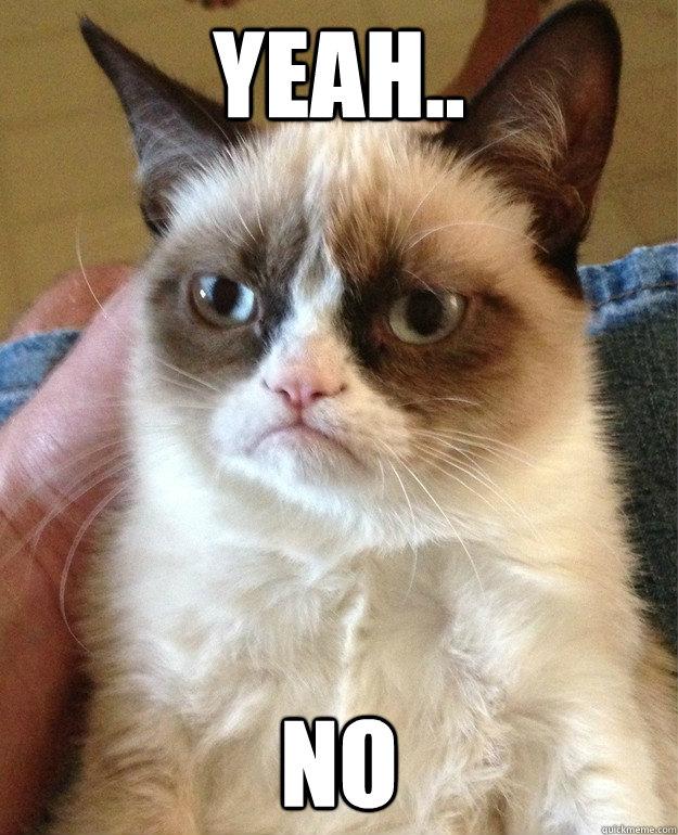 Yeah.. No - Yeah.. No  Grumpy Cat