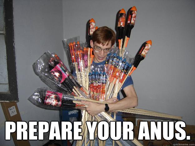Firework burns anus