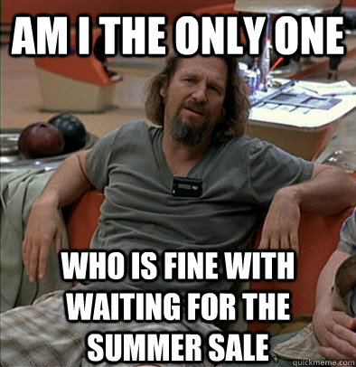 Am I the only one who is fine with waiting for the summer sale