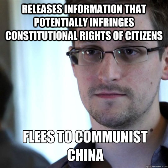releases information that potentially infringes constitutional rights of citizens flees to communist china