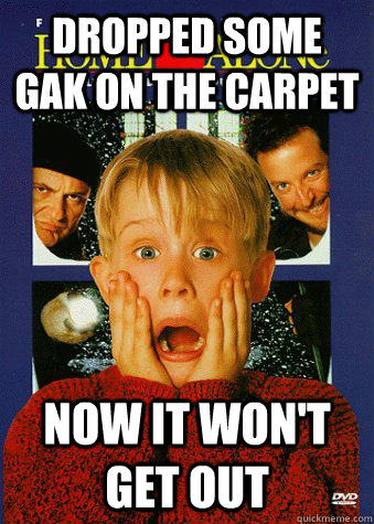 Dropped some gak on the carpet Now it won't get out