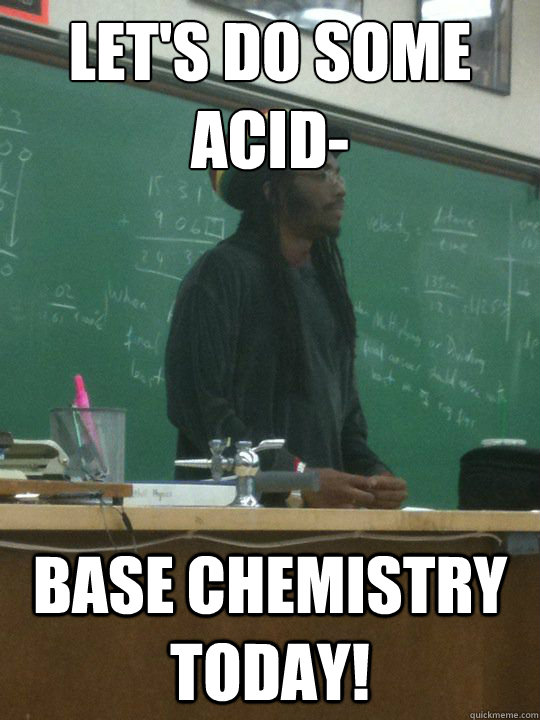 Let's do some acid- base chemistry today!  Rasta Teacher