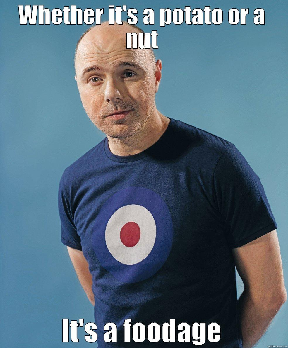 Karl Pilkington 1 - WHETHER IT'S A POTATO OR A NUT IT'S A FOODAGE Misc