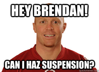 hey brendan! can i haz suspension?