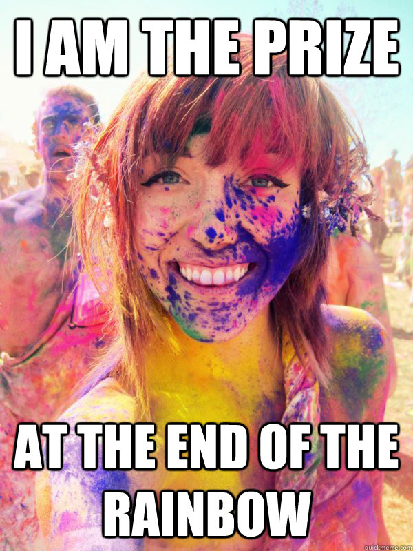 I am the prize at the end of the rainbow - I am the prize at the end of the rainbow  ridiculously photogenic rainbow girl