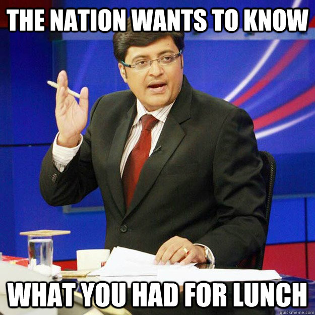 the nation wants to know what you had for lunch - the nation wants to know what you had for lunch  Father of the Nation Journalist
