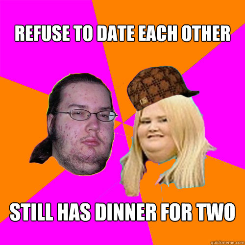 Refuse to date each other still has dinner for two