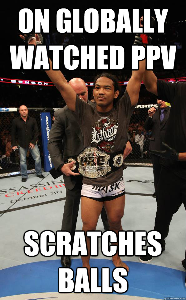 on globally watched ppv scratches balls - on globally watched ppv scratches balls  DGAF Joe Rogan