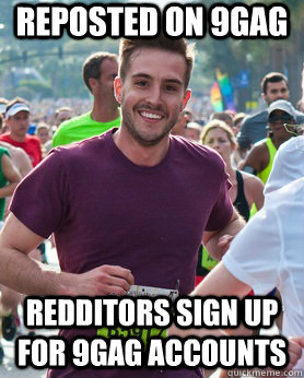 Reposted on 9gag Redditors sign up for 9gag accounts - Reposted on 9gag Redditors sign up for 9gag accounts  Ridiculously photogenic guy