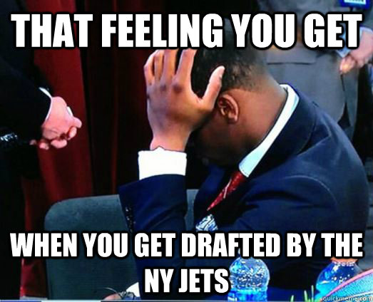That feeling you get When you get drafted by the NY Jets  Geno Smith