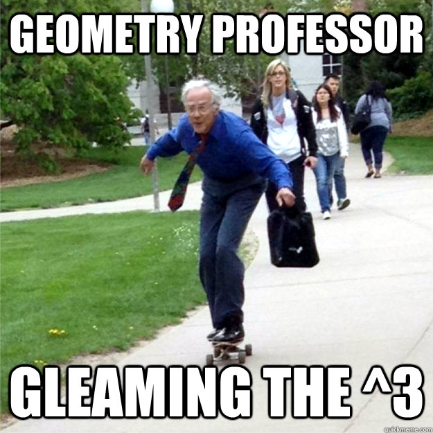 Geometry professor gleaming the ^3 - Geometry professor gleaming the ^3  Skating Prof