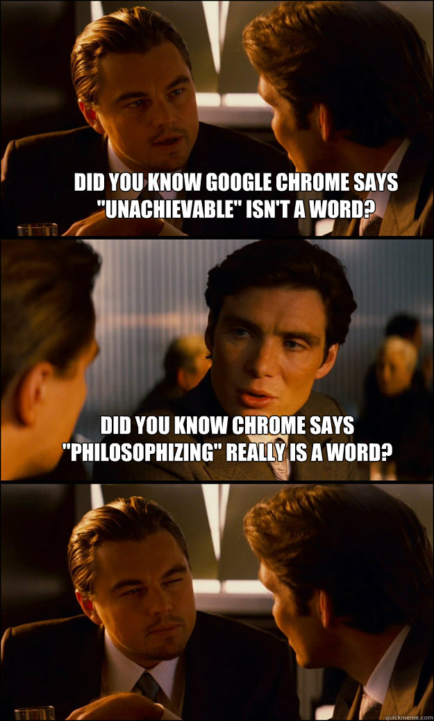 Did you know Google Chrome says