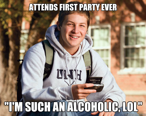 attends first party ever