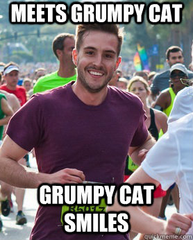 Meets Grumpy Cat Grumpy cat smiles  Ridiculously photogenic guy