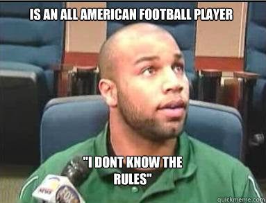 is an all american football Player