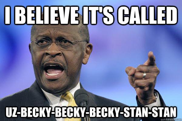 I believe it's called  Uz-becky-becky-becky-stan-stan