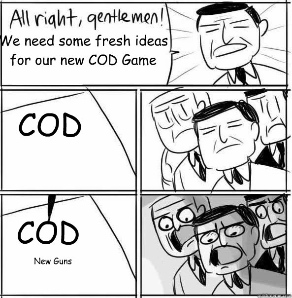 We need some fresh ideas for our new COD Game COD COD New Guns