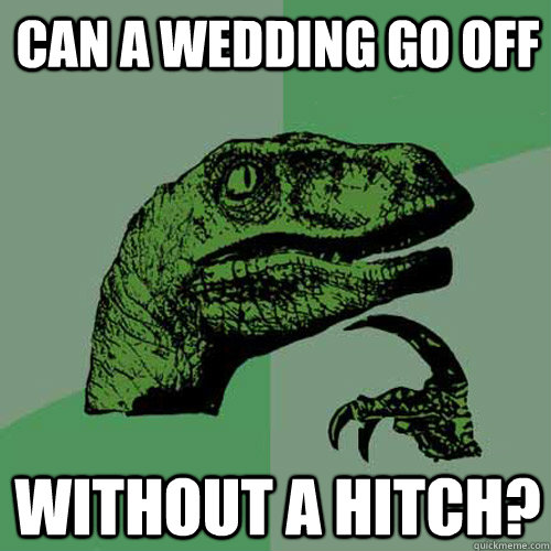 can a wedding go off without a hitch? - can a wedding go off without a hitch?  Misc