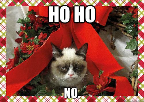 ho ho no. - ho ho no.  Grumpy holidays