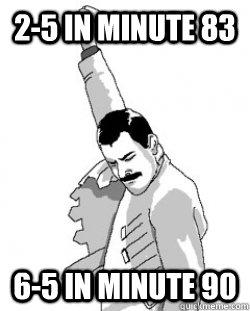 2-5 in minute 83 6-5 in minute 90
