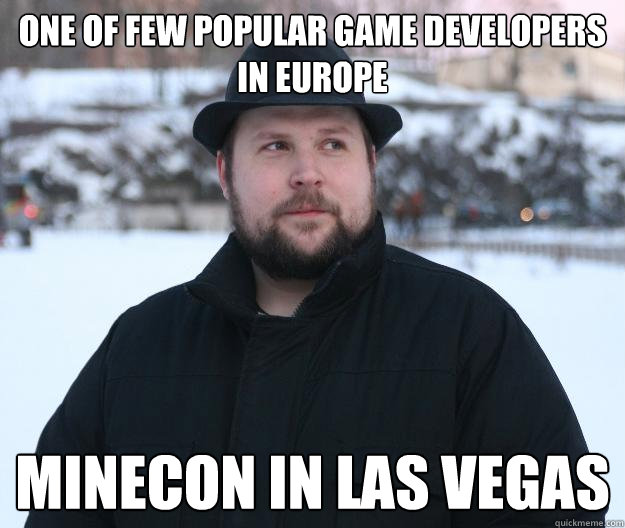 One of few popular game developers in Europe Minecon in Las Vegas  Advice Notch