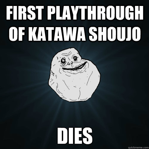 first playthrough of katawa shoujo dies - first playthrough of katawa shoujo dies  Misc