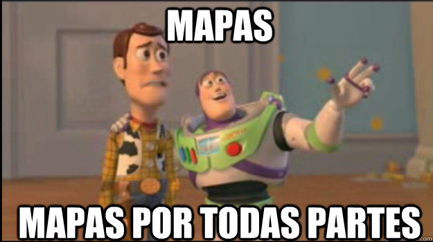 mapas mapas por todas partes - mapas mapas por todas partes  Buzz and Woody