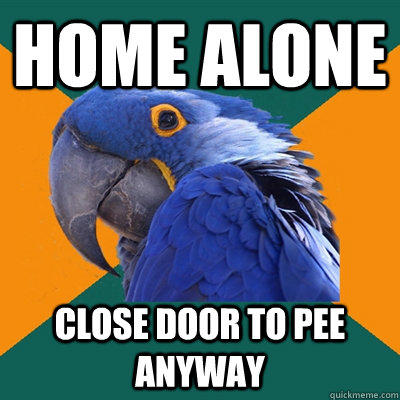 Home Alone close door to pee anyway - Home Alone close door to pee anyway  Paranoid Parrot