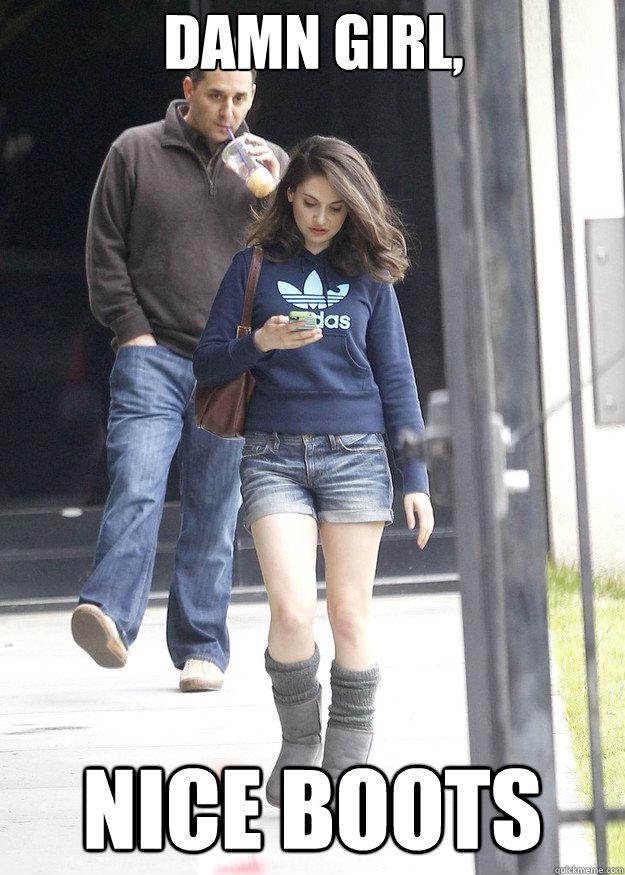 Damn Girl, Nice boots - Damn Girl, Nice boots  the slushie fondler