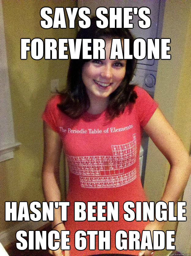 says she's forever alone hasn't been single since 6th grade  Needy Reddit Girl
