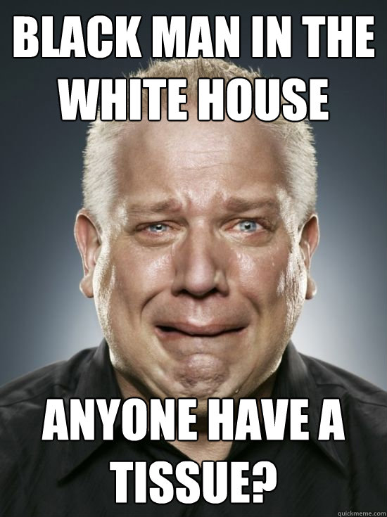black man in the white house anyone have a tissue?