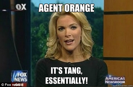 Agent orange It's Tang, Essentially! - Agent orange It's Tang, Essentially!  Megyn Kelly