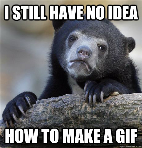 I still have no idea how to make a gif - I still have no idea how to make a gif  Confession Bear