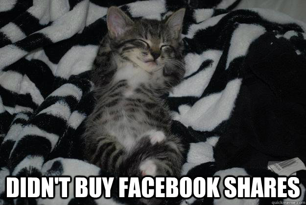 Didn't buy Facebook shares -  Didn't buy Facebook shares  Success Cat