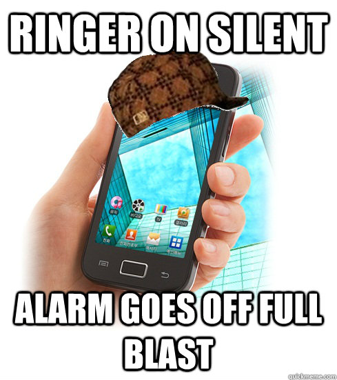 Ringer on silent Alarm goes off full blast