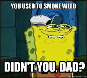 You used to smoke weed  Didn't you, Dad?  Baseball Spongebob