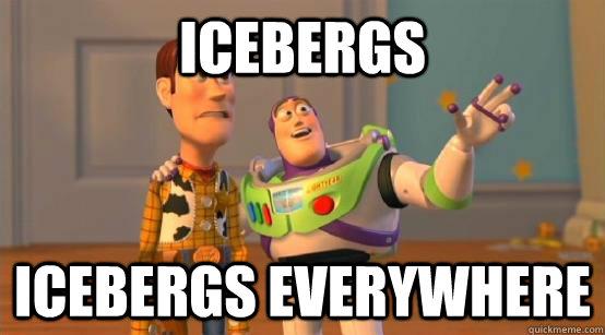 Icebergs icebergs everywhere - Icebergs icebergs everywhere  Buzz Glitter