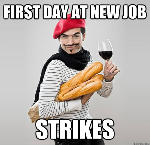 First day at new job strikes