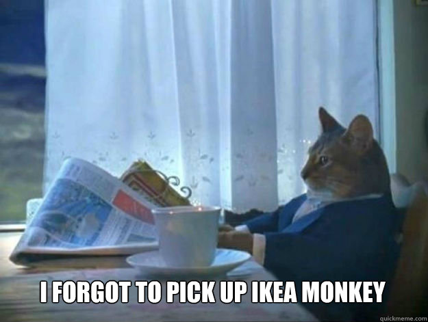 I forgot to pick up IKEA monkey
