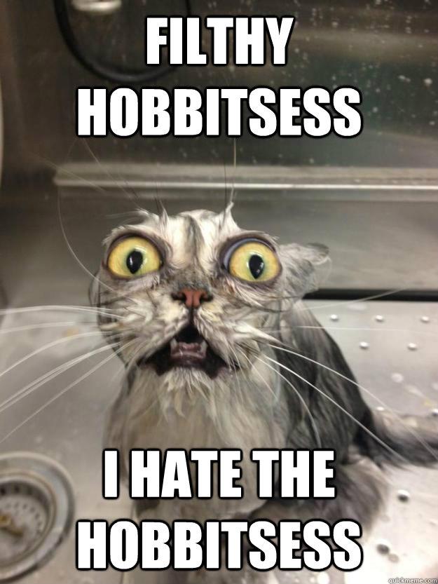 Filthy hobbitsess i hate the hobbitsess