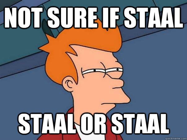 not sure if staal staal or staal - not sure if staal staal or staal  Futurama Fry