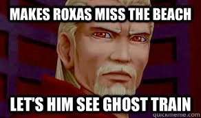 Makes Roxas miss the beach Let's him see ghost train  Good guy Ansem
