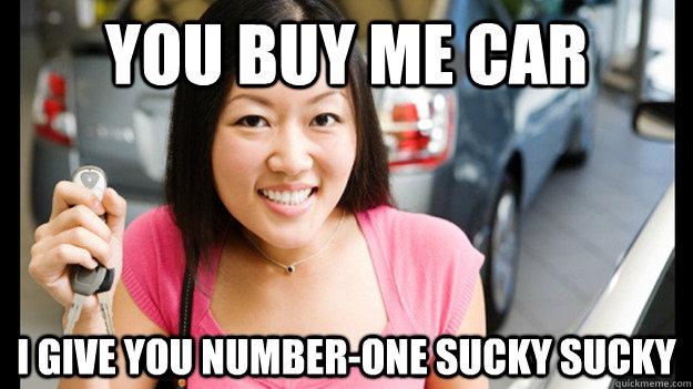 Asian girl sucky