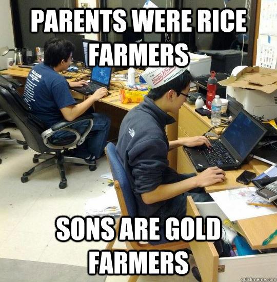 Asian Gold Farmer