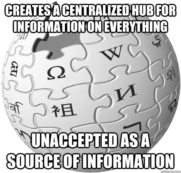 creates a centralized hub for information on everything unaccepted as a source of information - creates a centralized hub for information on everything unaccepted as a source of information  Misc