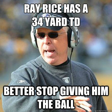 Ray Rice has a  34 Yard TD Better stop giving him the ball - Ray Rice has a  34 Yard TD Better stop giving him the ball  Misc