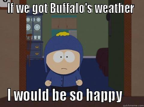 Weather Sucks - IF WE GOT BUFFALO'S WEATHER I WOULD BE SO HAPPY      Craig would be so happy