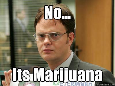 No... Its Marijuana