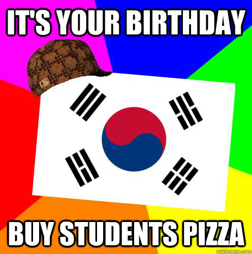 it's your birthday buy students pizza